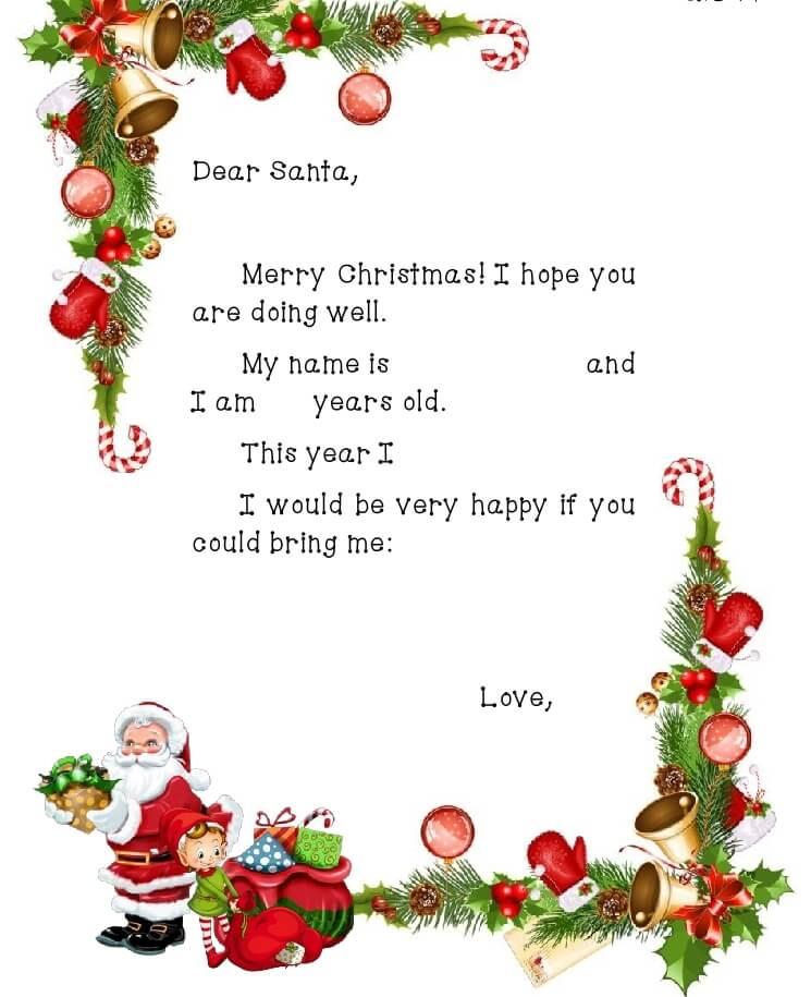 письмо Санта Клаусу на английском 1