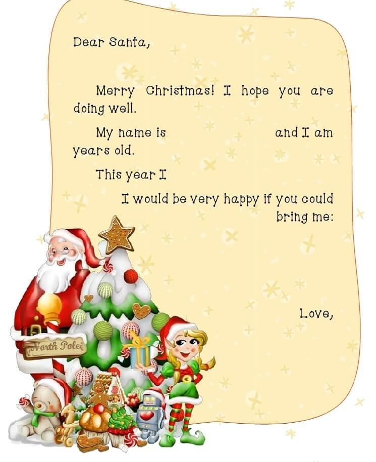письмо Санта Клаусу на английском 10