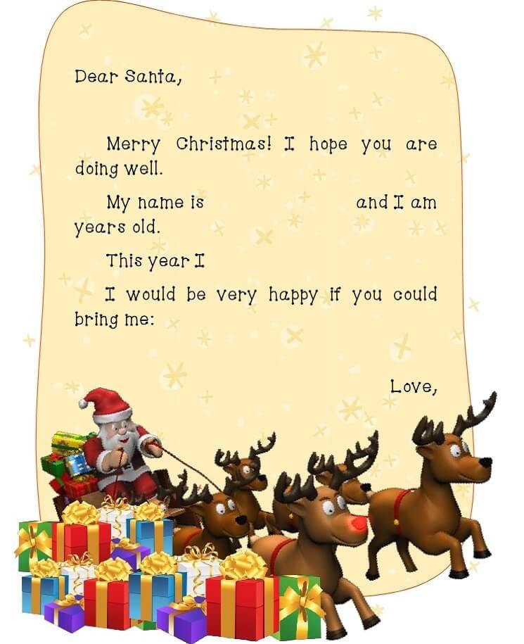 письмо Санта Клаусу на английском 11