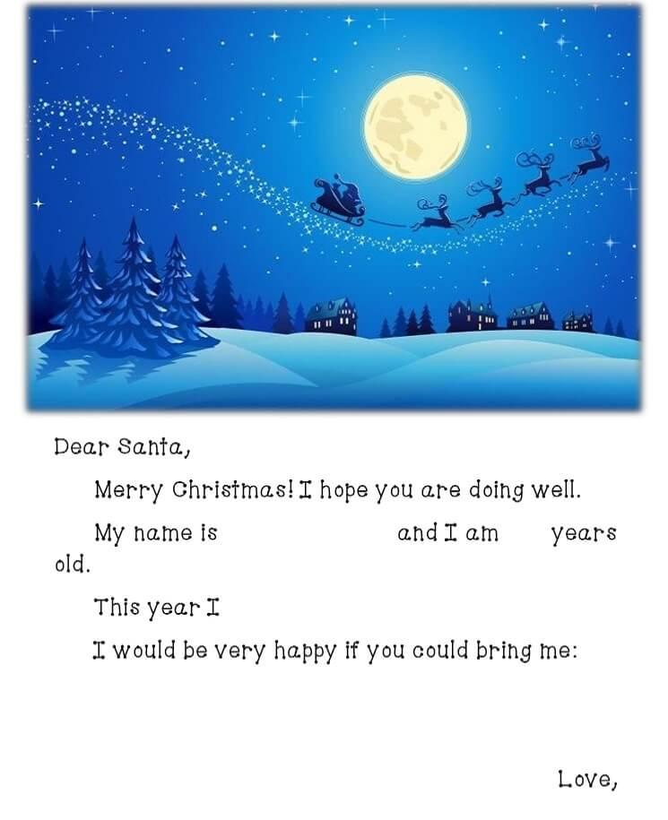 письмо Санта Клаусу на английском 16