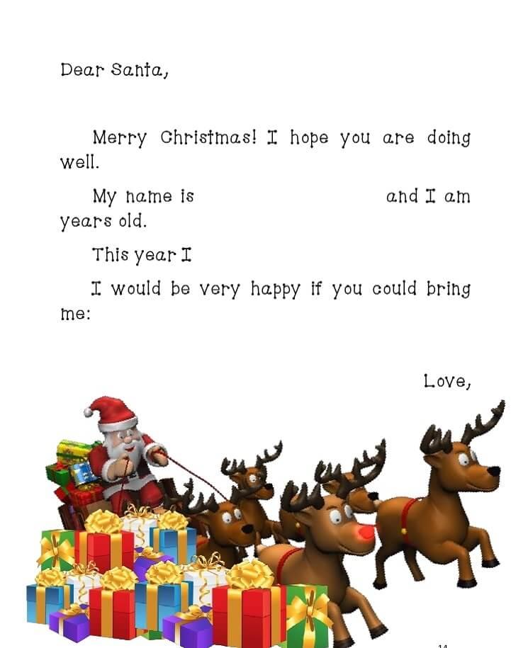 письмо Санта Клаусу на английском 2