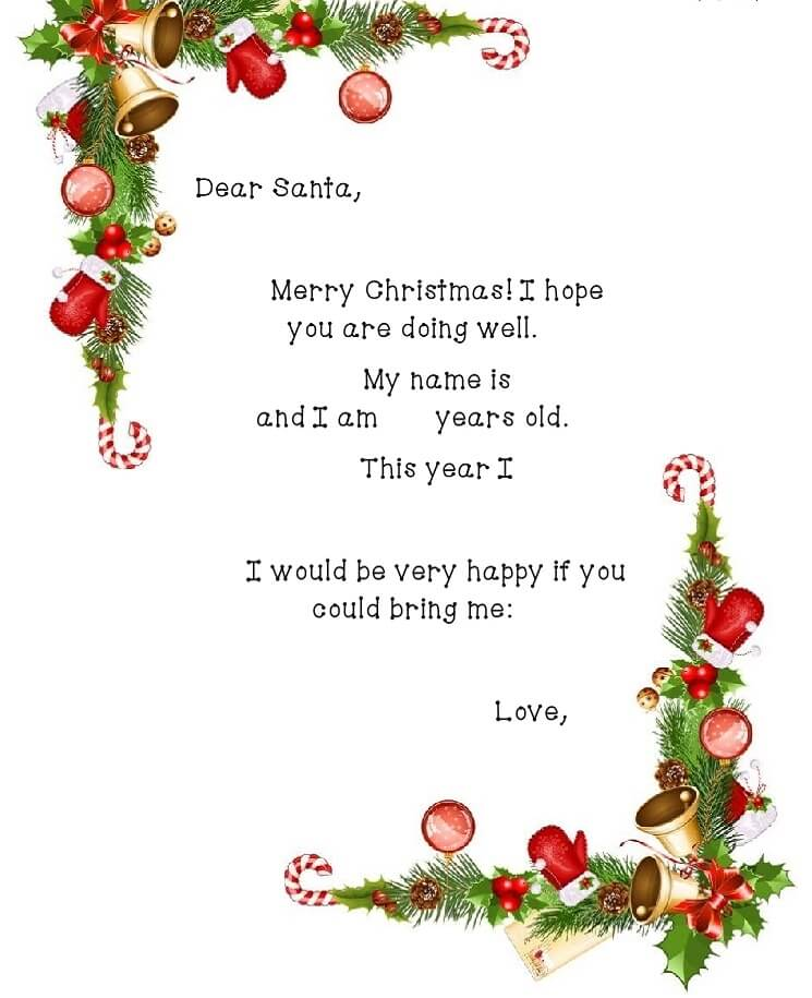 письмо Санта Клаусу на английском 3