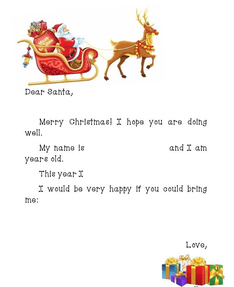 письмо Санта Клаусу на английском 4