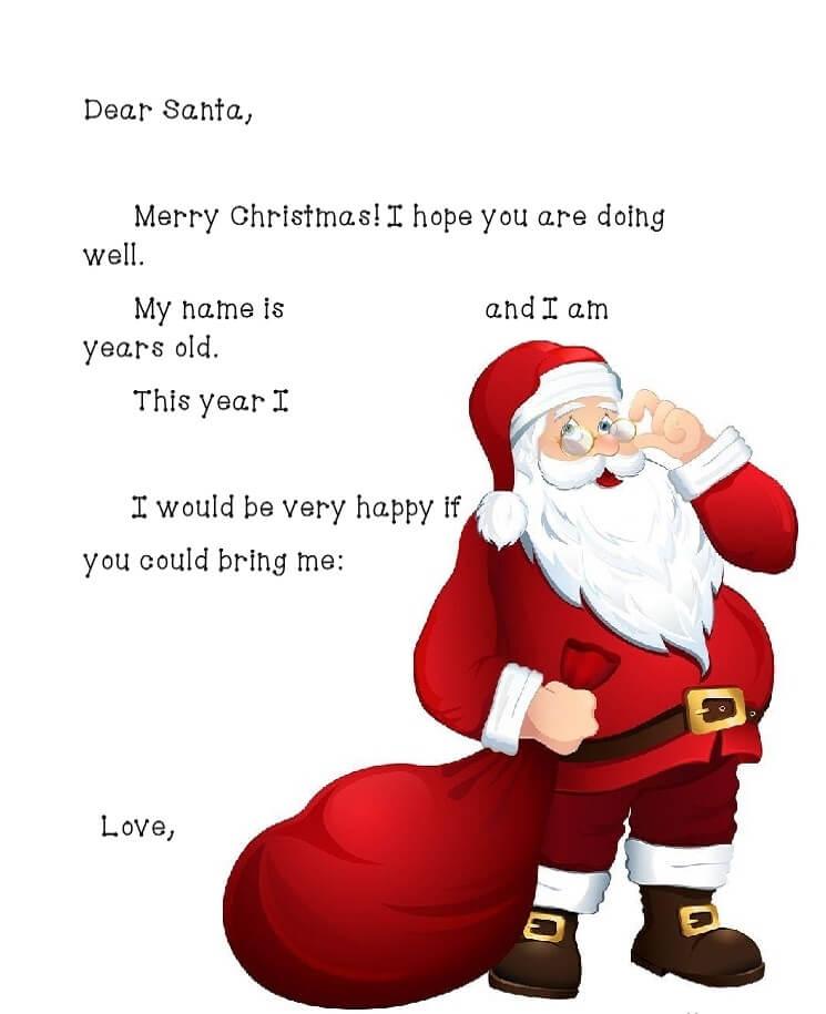 письмо Санта Клаусу на английском 5