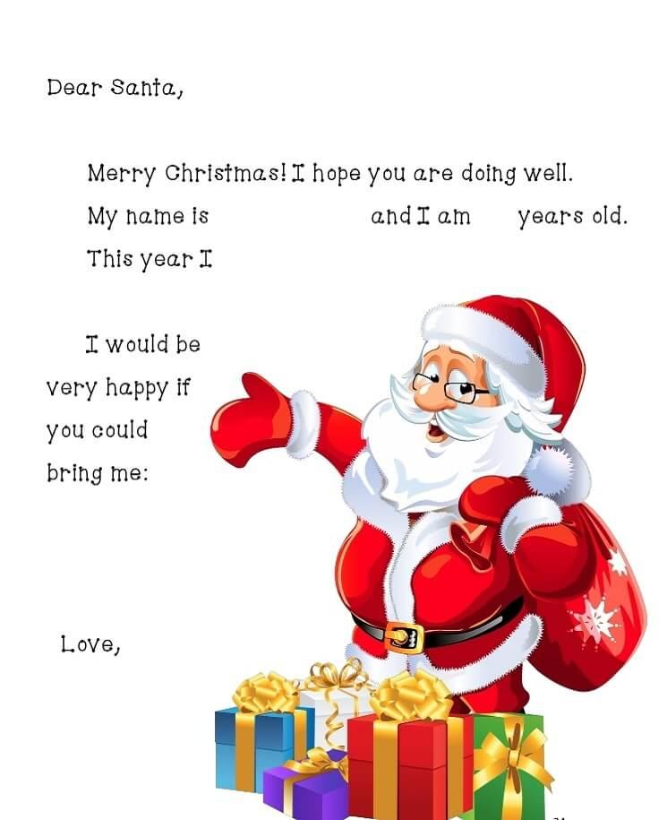 письмо Санта Клаусу на английском 6