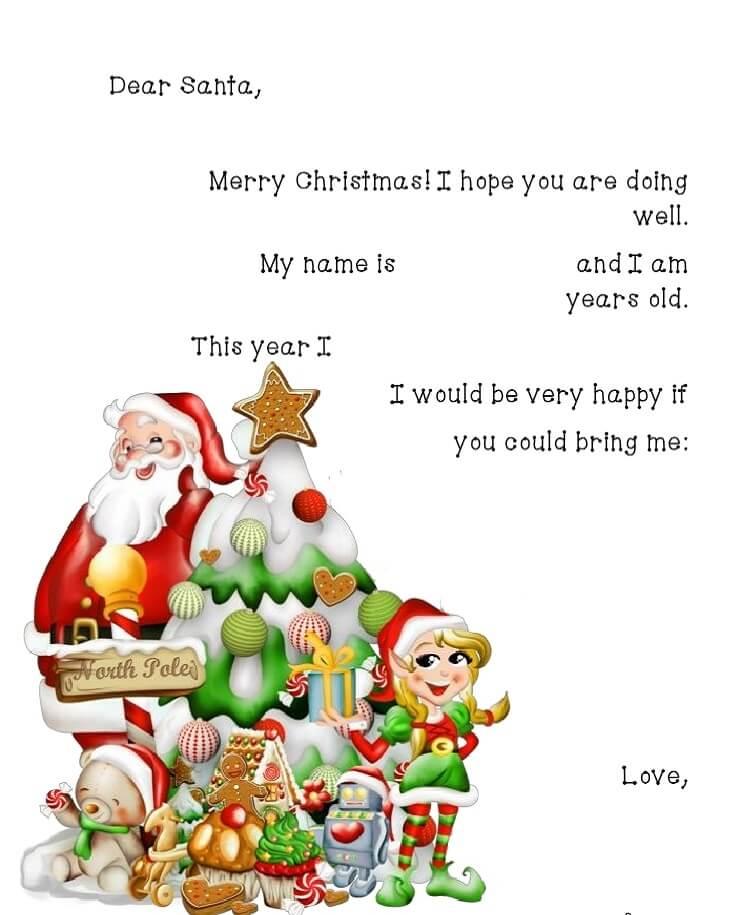 письмо Санта Клаусу на английском 8