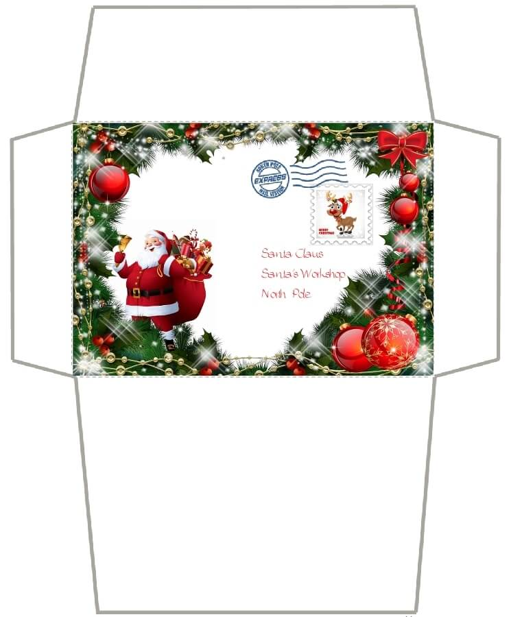 письмо Санта Клаусу на английском 89