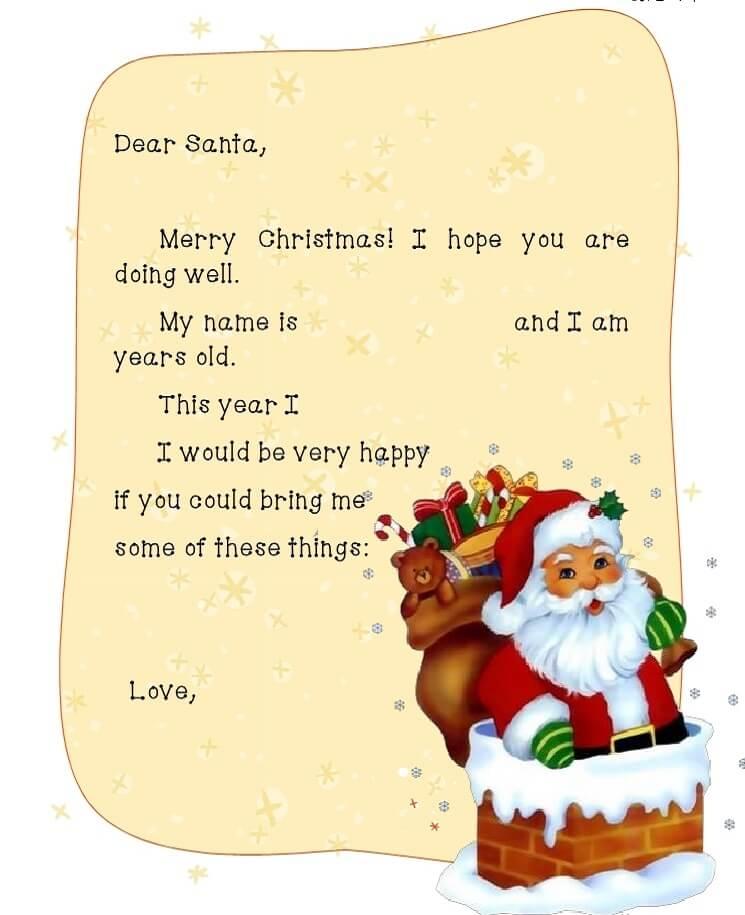 письмо Санта Клаусу на английском 9