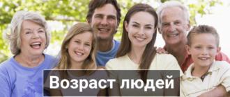 возраст на английском языке семья
